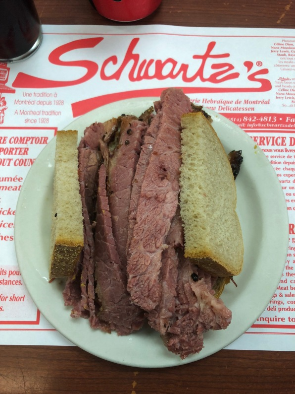 The smoked meat sandwich